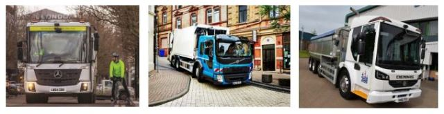 "IMAGE: Researchers said that the Mercedes Econic, Volvo FE, Denis Eagle low entry tipper"" provide excellent close range visibility and are ideally suited for urban traffic""."