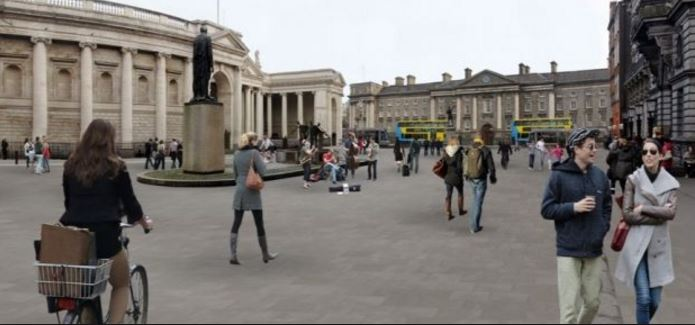 College Green Plaza photomontage