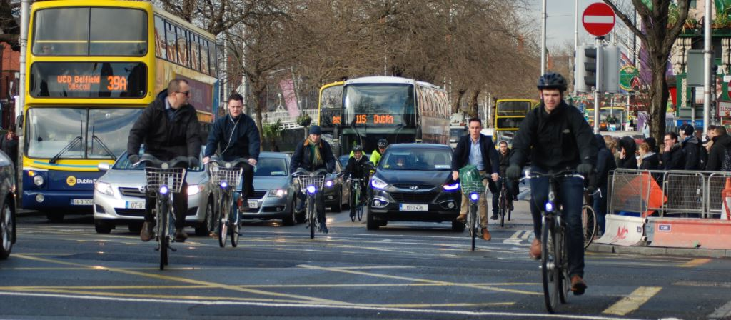 Cyclists on the quays