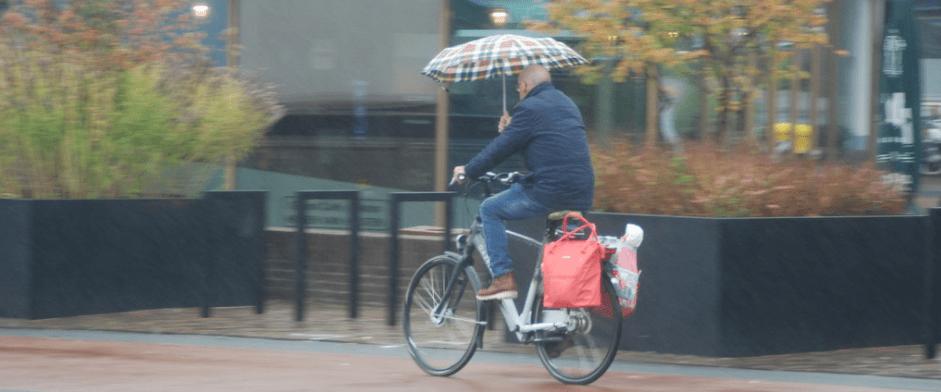 Cycling in the Dutch town of Houten