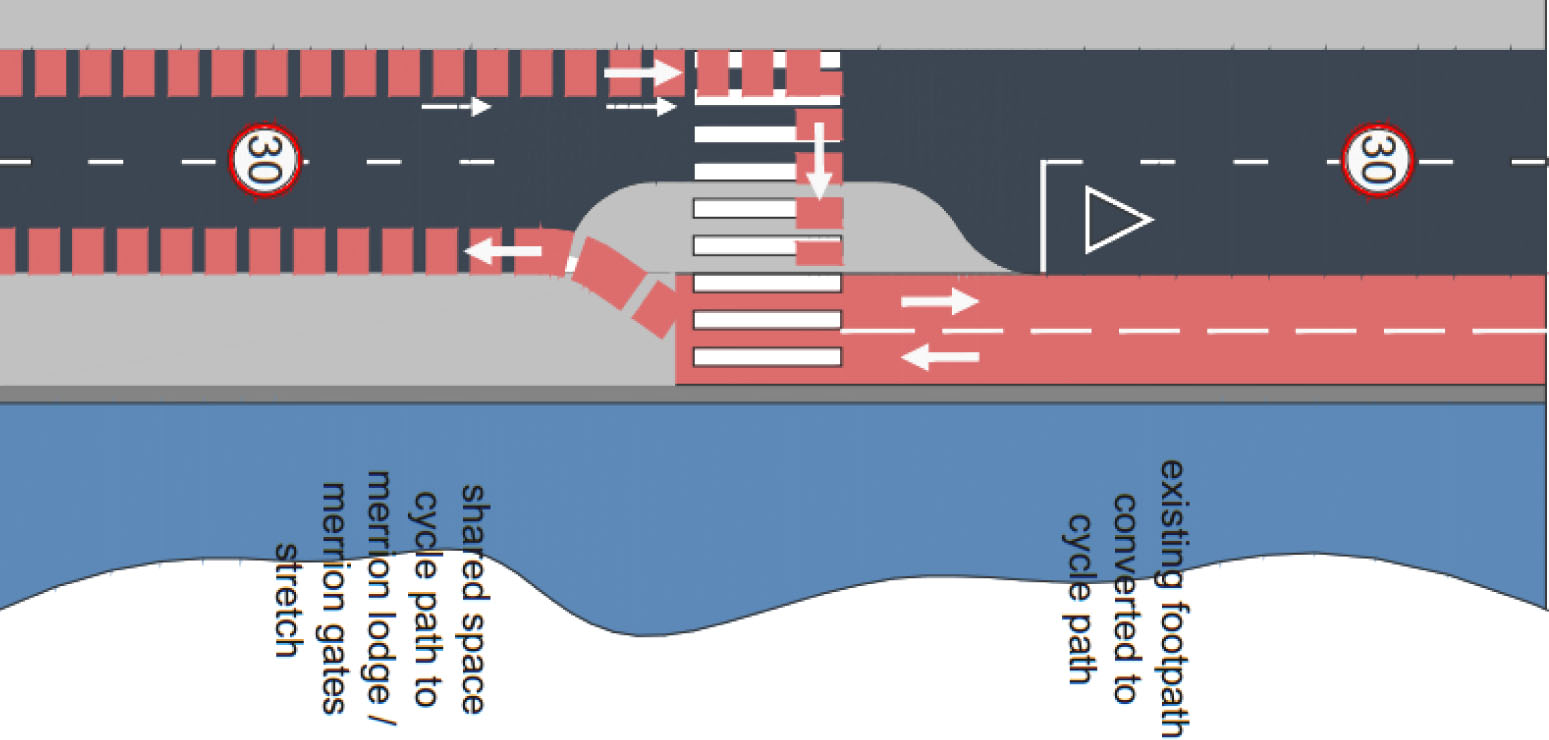 Strand Road Trial Rapid Deployment Cycle Route – An Alternati