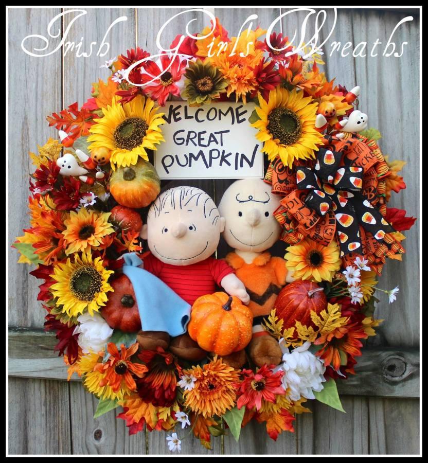 Great Pumpkin Wreath for Linda