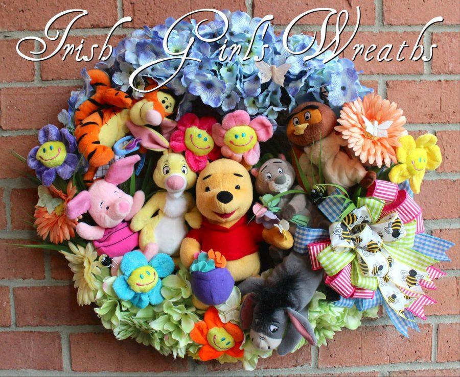 Winnie the Pooh and Friends Nursery Wreath