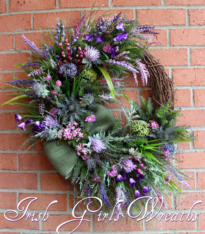Scottish Heather Coastal Wreath, for Alice