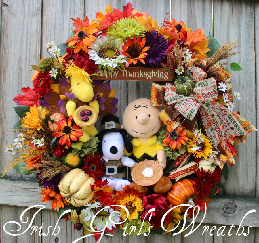 Charlie Brown Thanksgiving Wreath