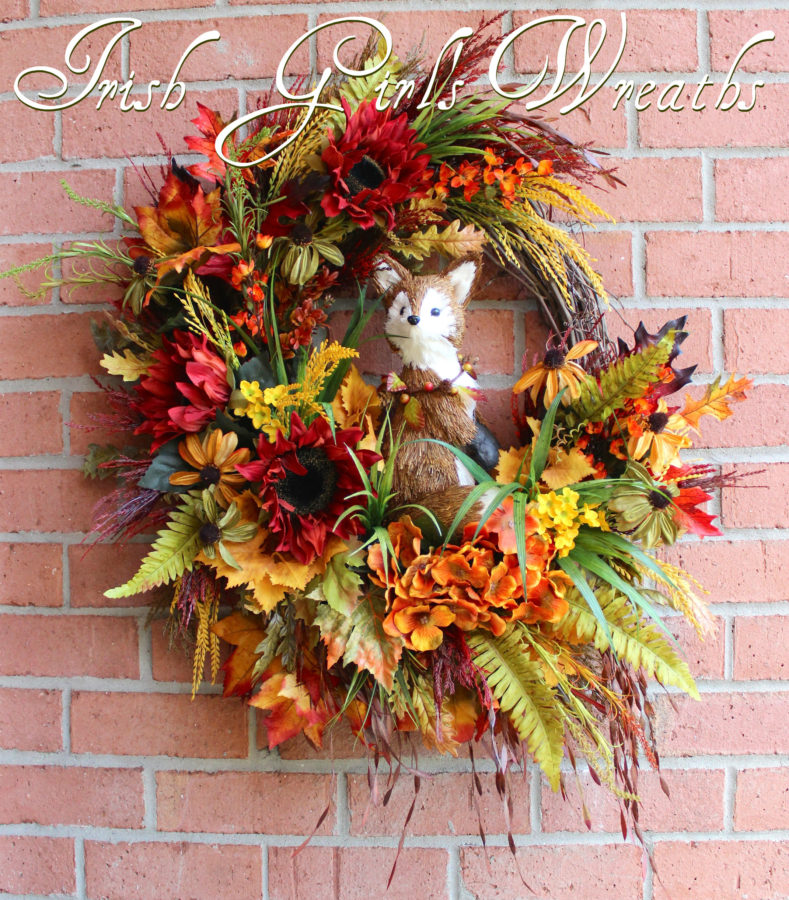 Rustic Autumn Woodland Fox Wreath