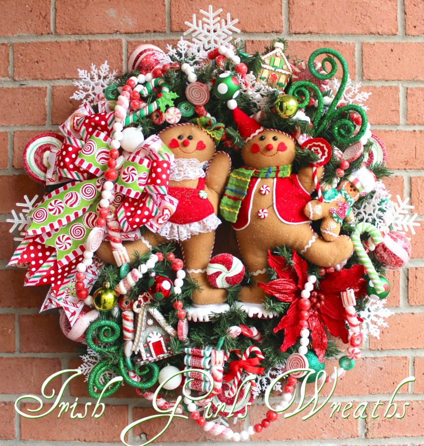 Gingerbread Family Peppermint Candy Wreath