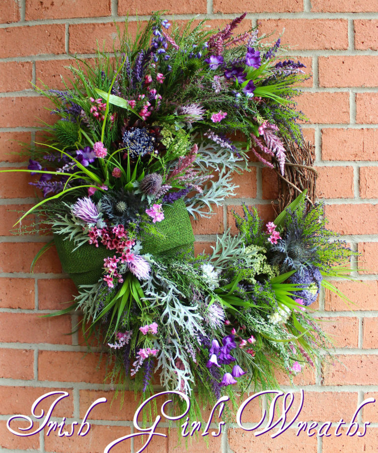 Scottish Thistle & Heather Coastal Wreath