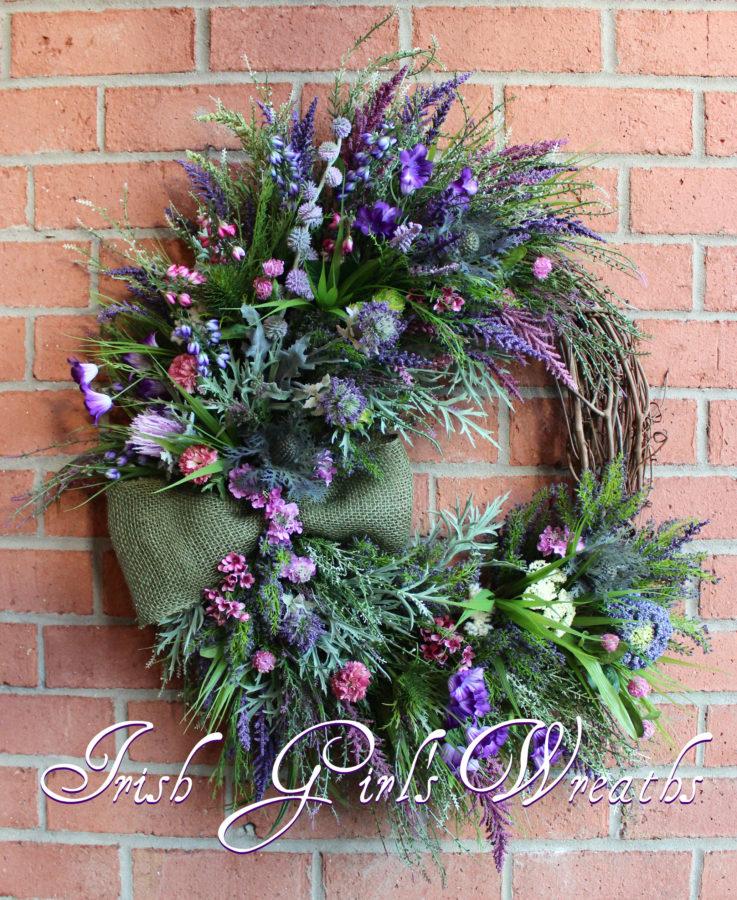 Scottish Heather in Bloom Wreath