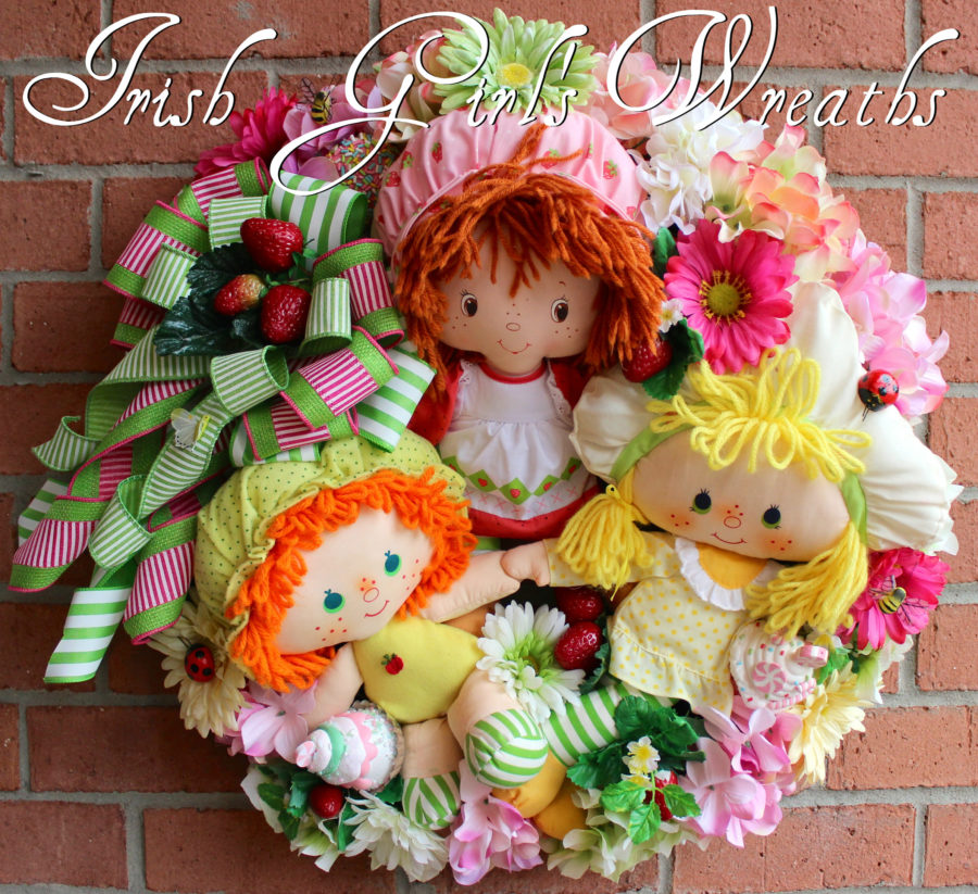 Vintage Strawberry Shortcake and Friends Wreath