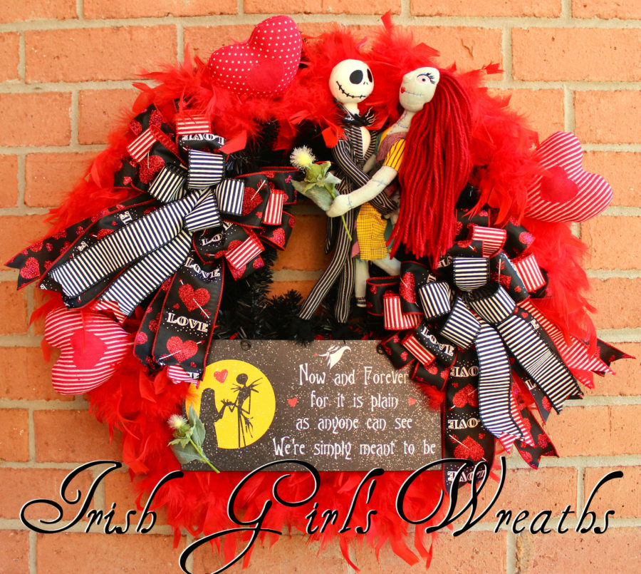 Jack Skellington and Sally Meant to Be Wreath