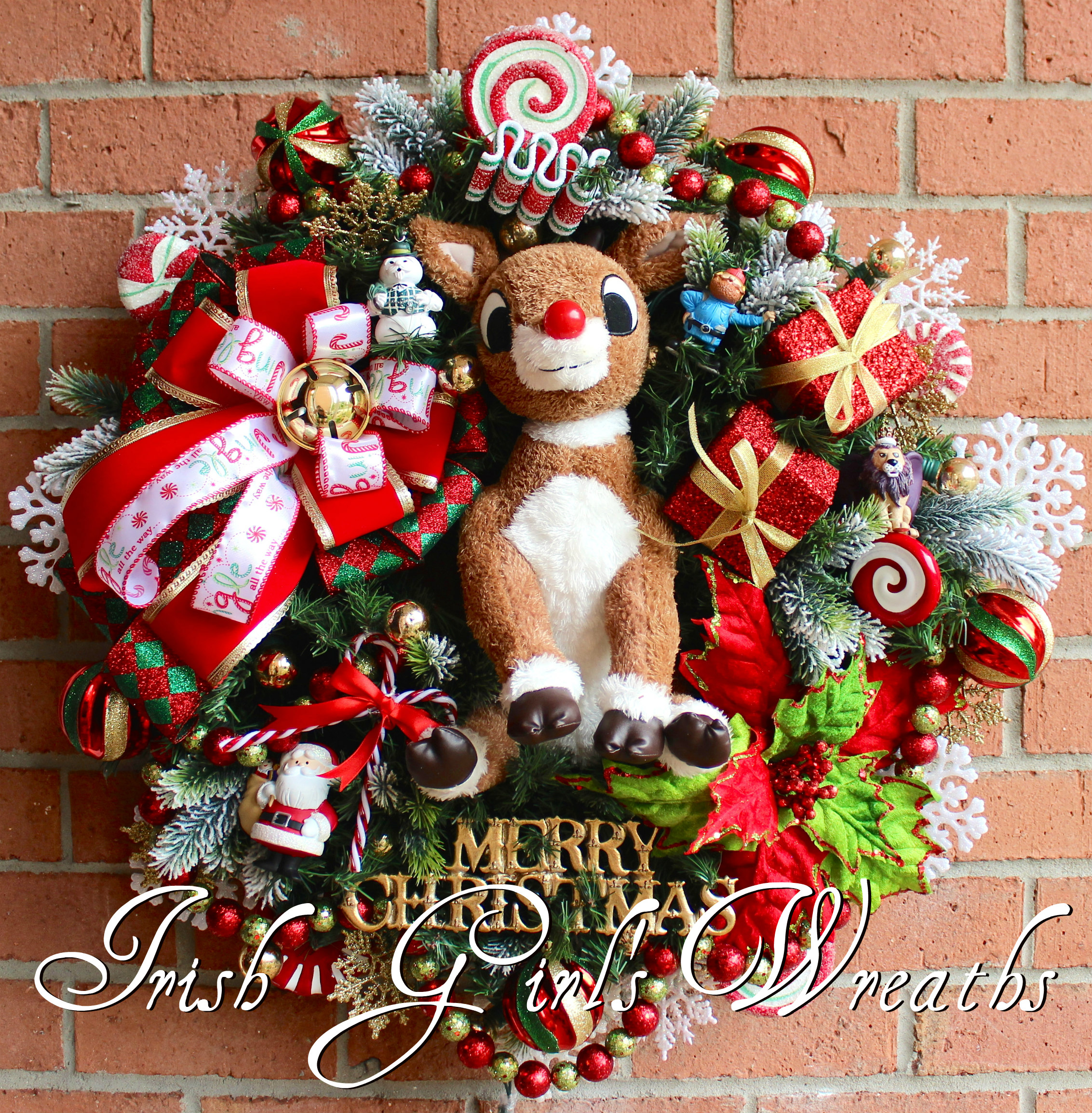 rudolph the red nosed reindeer wreath