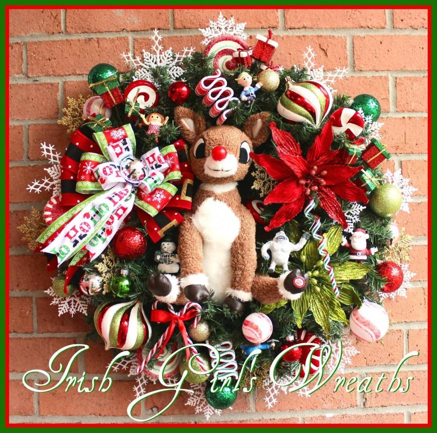 Rudolph & Misfit Toys Christmas Wreath