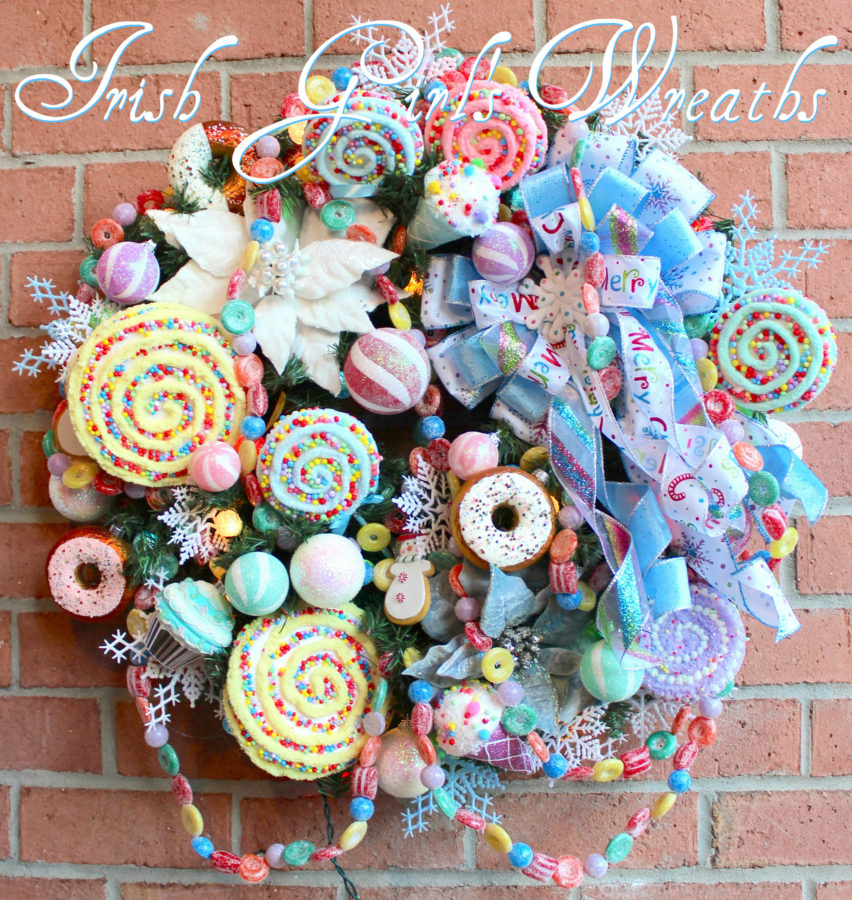Sweet Treat Candy Pre-lit Christmas Wreath