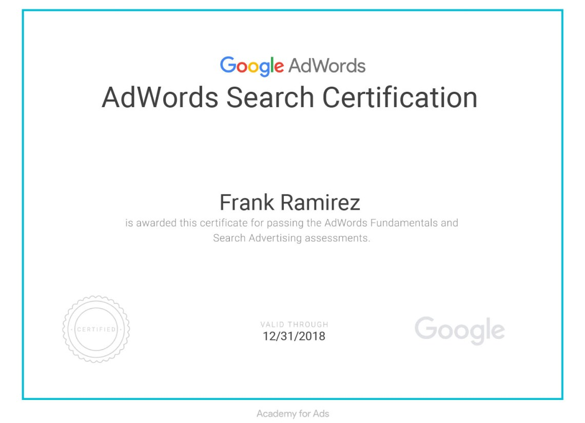 Google AdWords Certification and Local Asheville Service