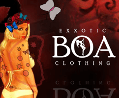 BUSINESS CARD: Exxotic Boa