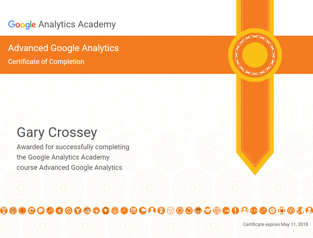 Advanced Google Analytics Academy Certification