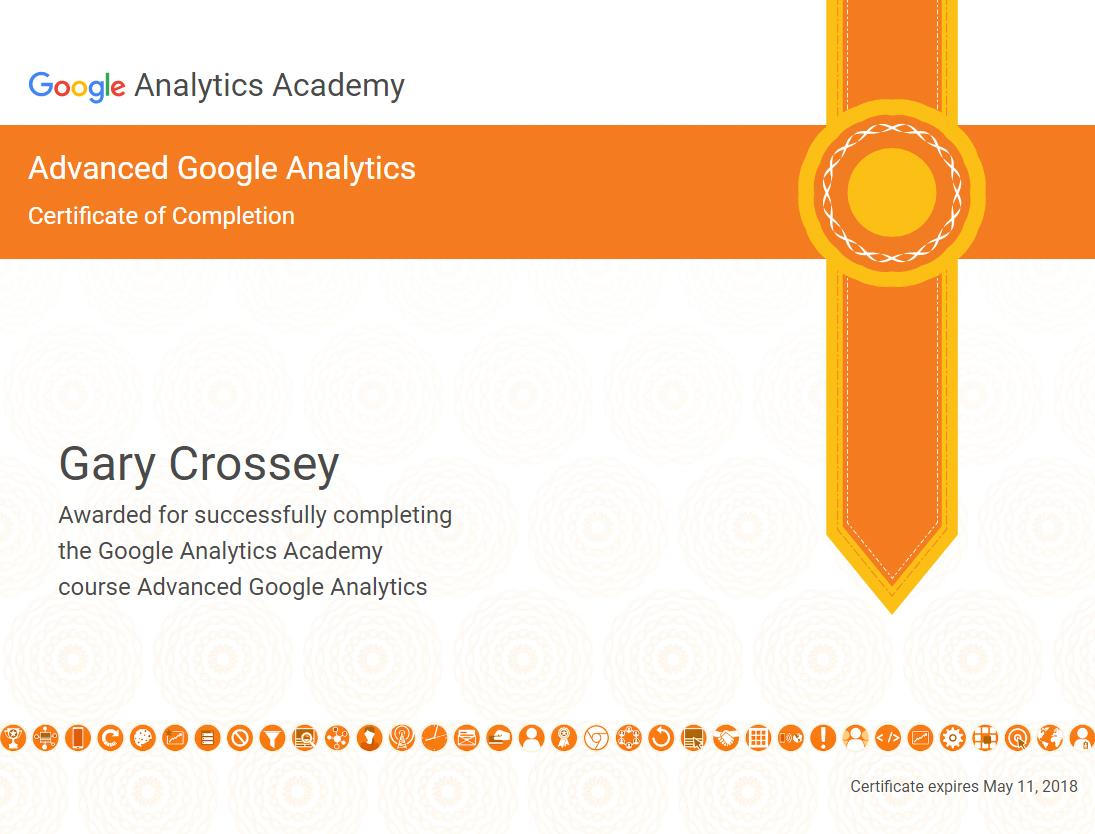 Advanced Google Analytics Academy Certification