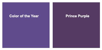 Pantone year and prince