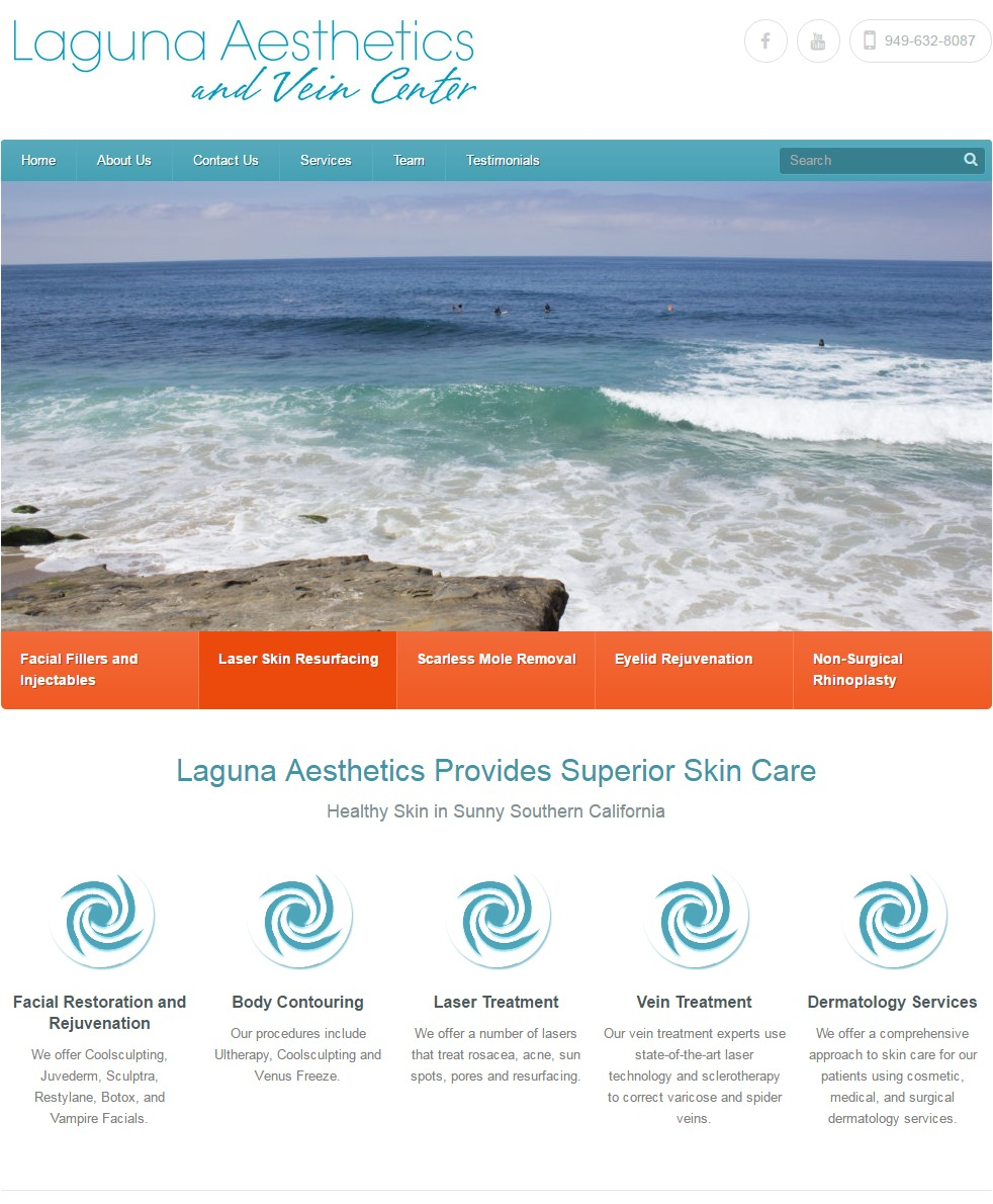 WEBSITE DESIGN Laguna Aesthetics