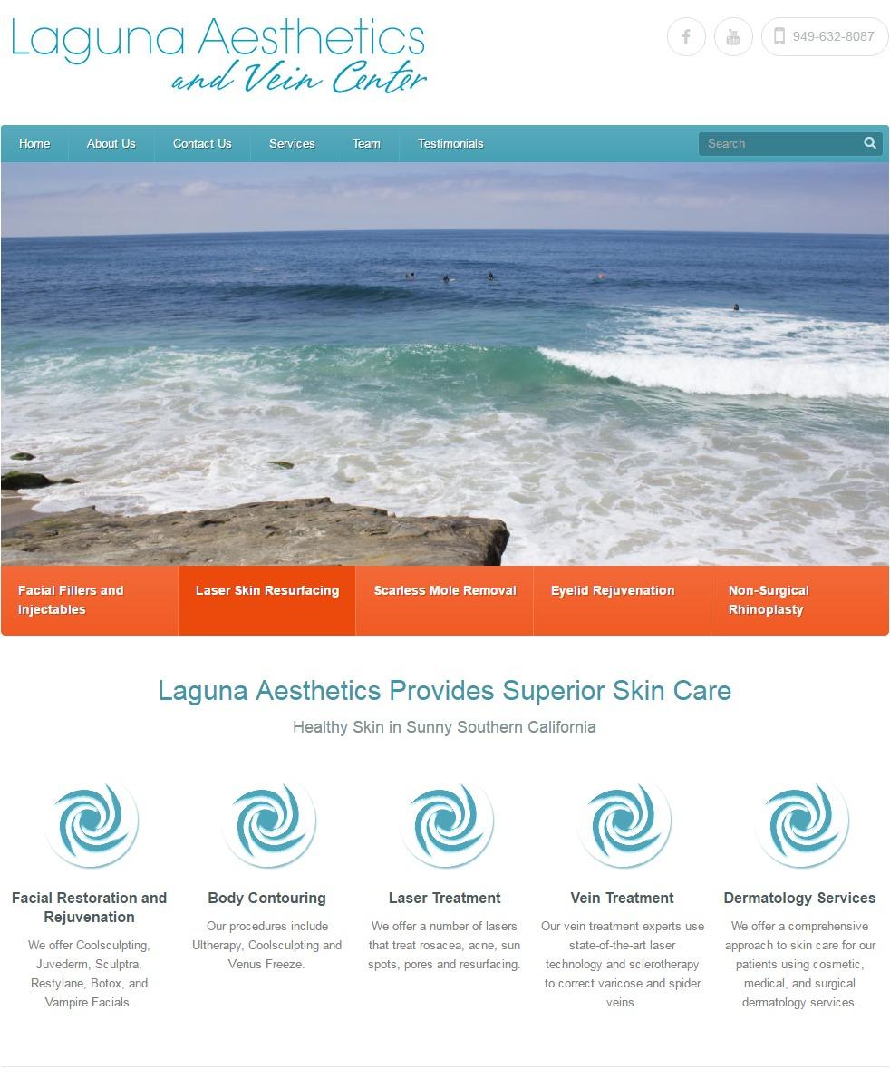 WEBSITE DESIGN Laguna Aesthetics
