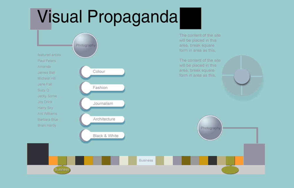 WEBSITE DESIGN: Visual Propaganda