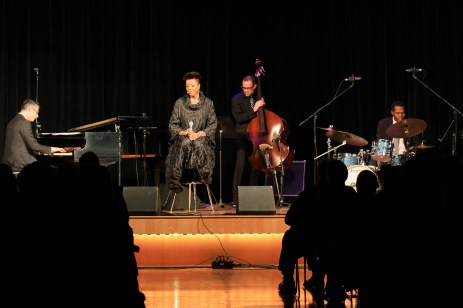 """Dee Daniels and her favorite trio: Josh Nelson, piano; Paul Beaudry, bass; and Dwayne """"Cook"""" Broadnax, drums."""