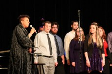 Jazz singer Dee Daniels with the UI Chamber Jazz Choir