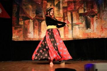"Mamta Kandel performs ""Kasari Bhanu Ma"" at Taste of Nepal, Saturday at Bruce M. Pitman Center."