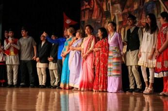 Traditional Nepali dresses showcased duringTaste of Nepal, Saturday at Bruce Pitman Center.