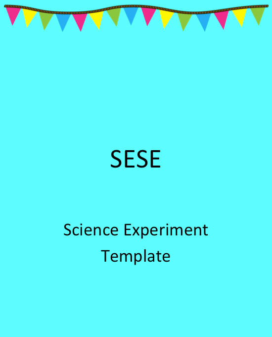 Science experiment template