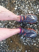 Muddy trail race - not the usual August racing weather in Utah.