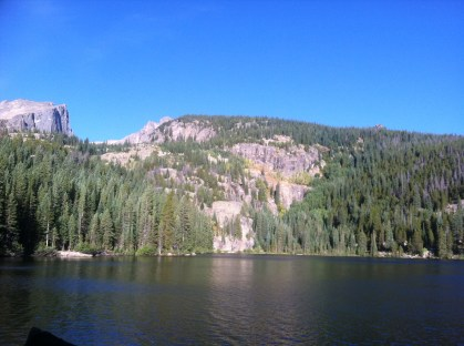 Alpine lake in RMNP.