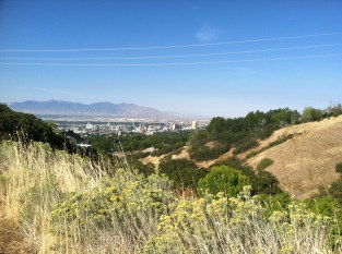 Finally some trail running in SLC.