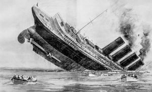 Lusitania: Norman Wilkinson – The Illustrated London News, May 15, 1915.