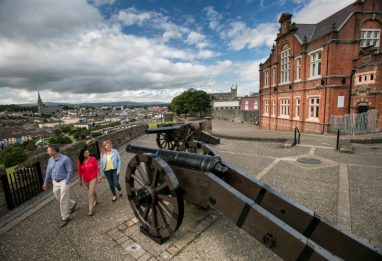 Cannon's along the City Walls of Derry