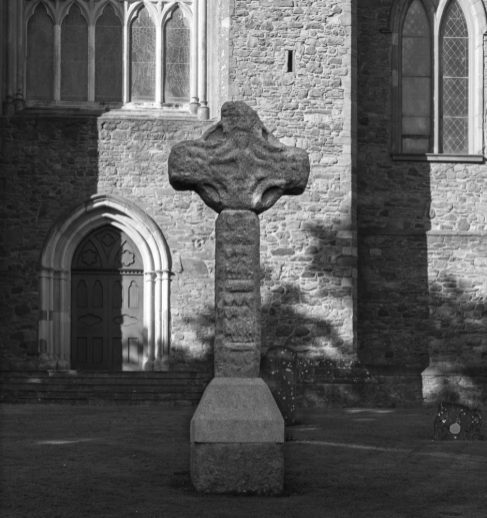 High cross at Downpatrick Cathedral.