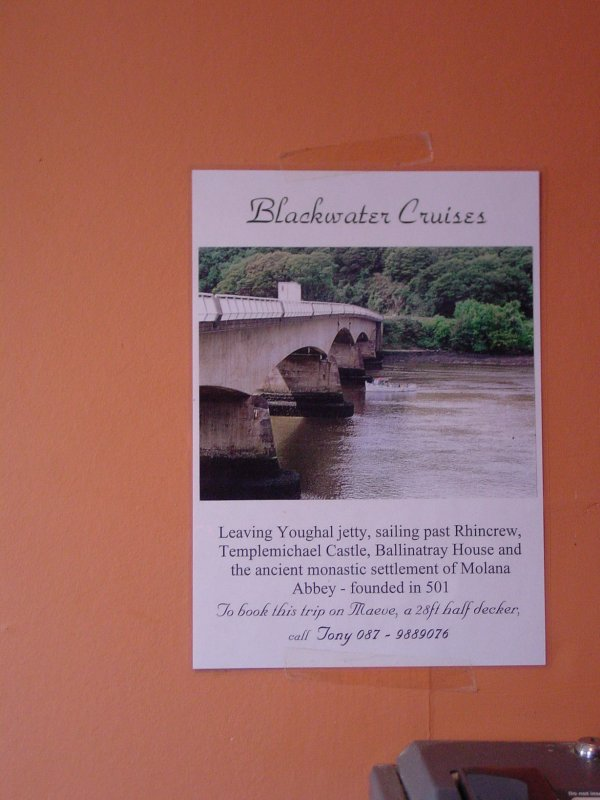 Tony Gallagher's poster seen in Tallow in 2006