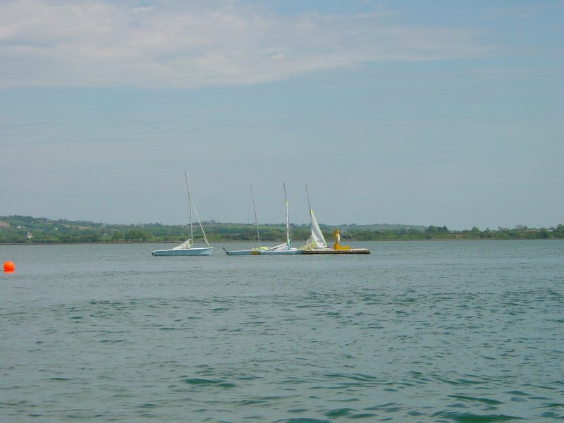 The bay at Youghal. The dinghies, moored to a float, give some idea of the scale