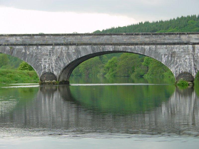 Looking upstream through the bridge to the Kitchenhole