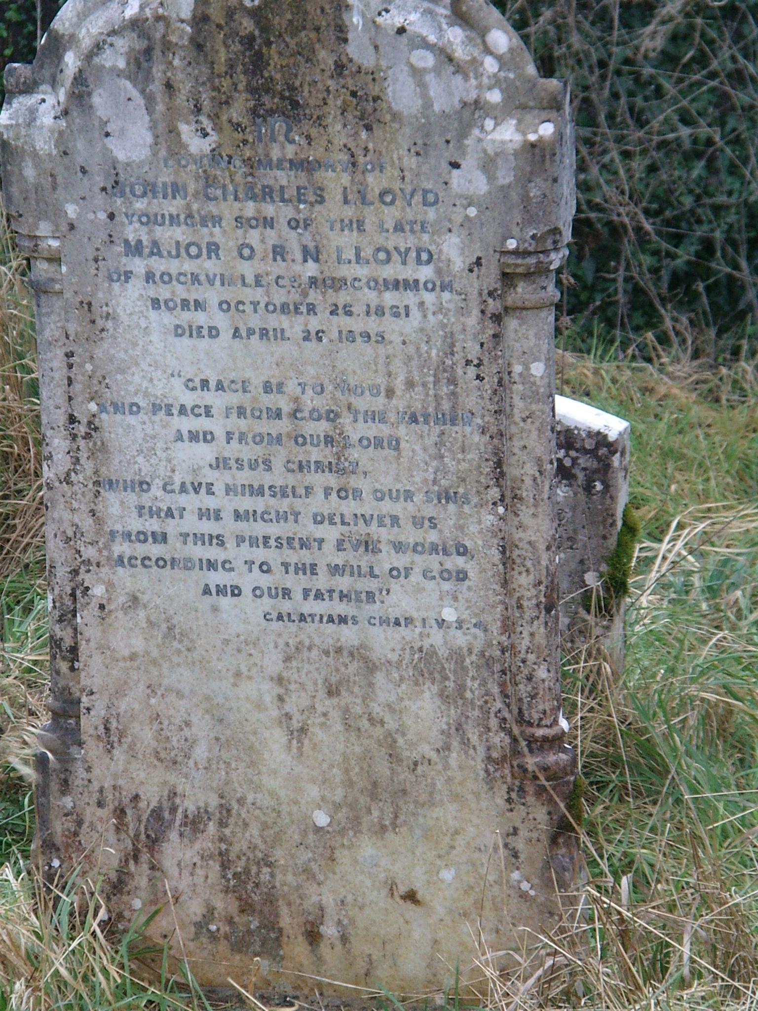 A Lloyd family headstone