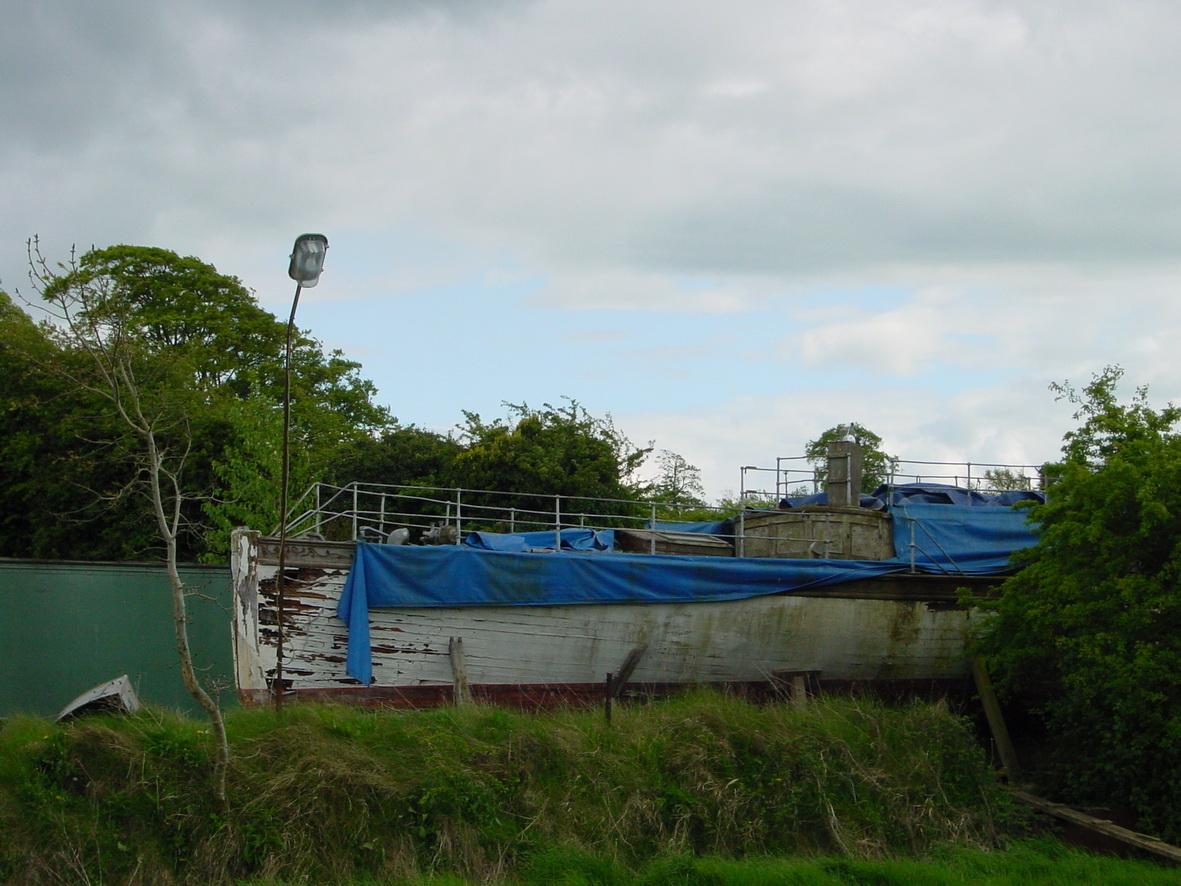 La Vague disintegrating in a field at Rathangan some years ago