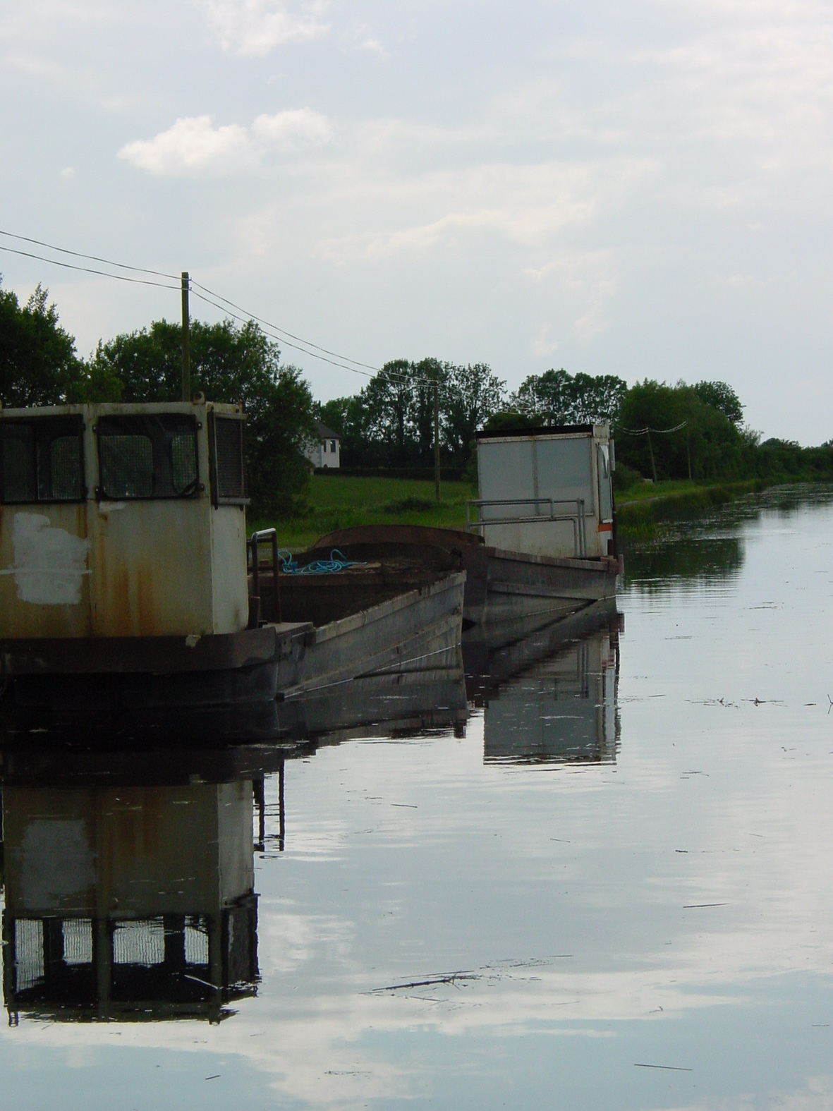 Two small barges