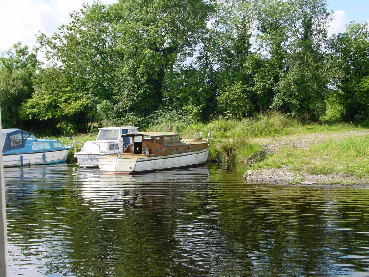 Wooden boat at Carrybridge on Lough Erne