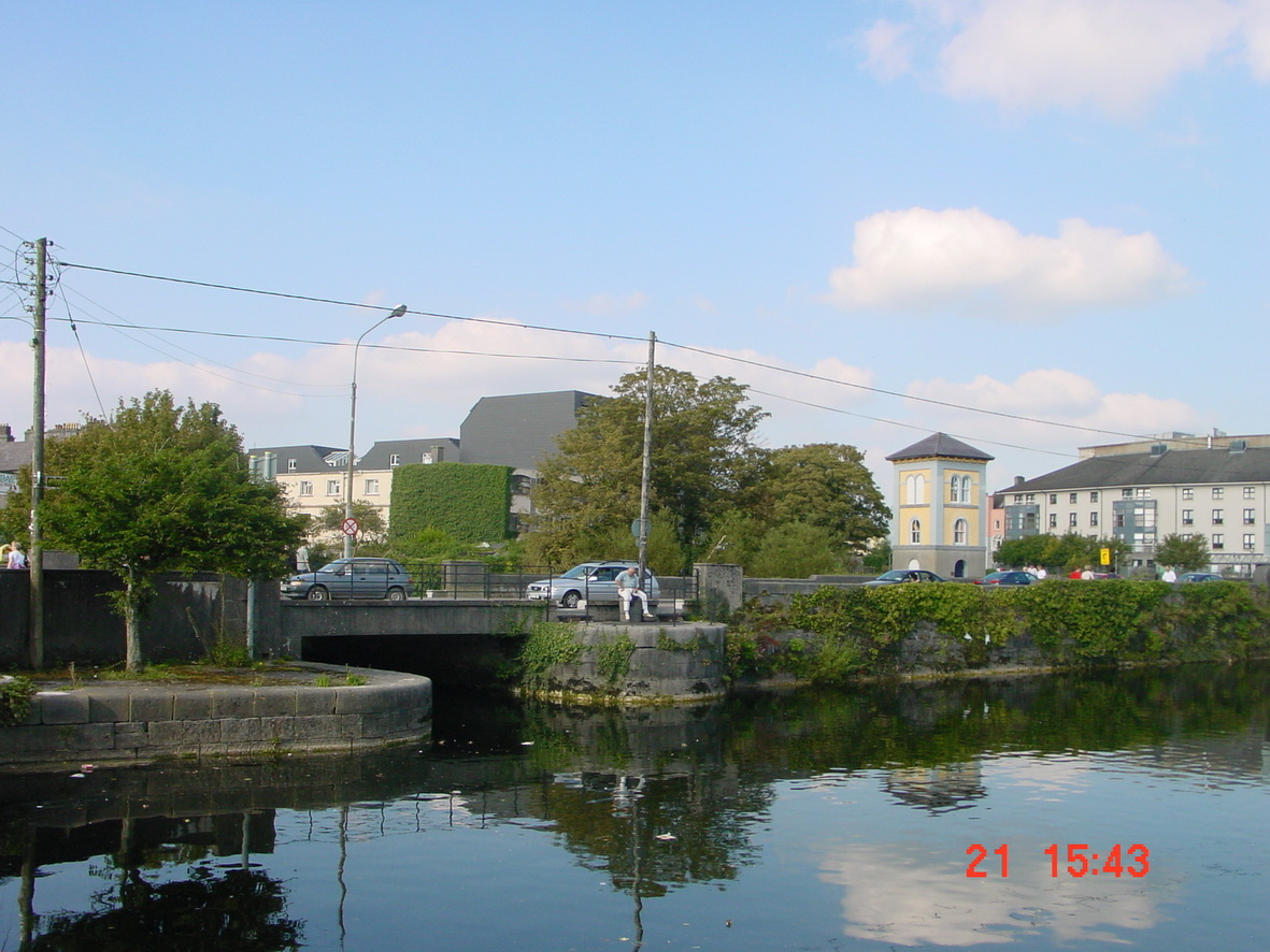 The bridge from downstream, across the basin