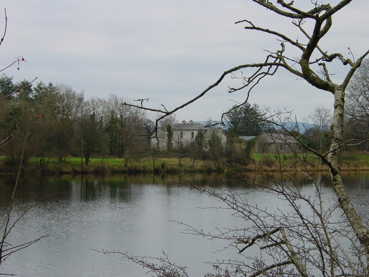 Mona Lodge from the far side of the Shannon