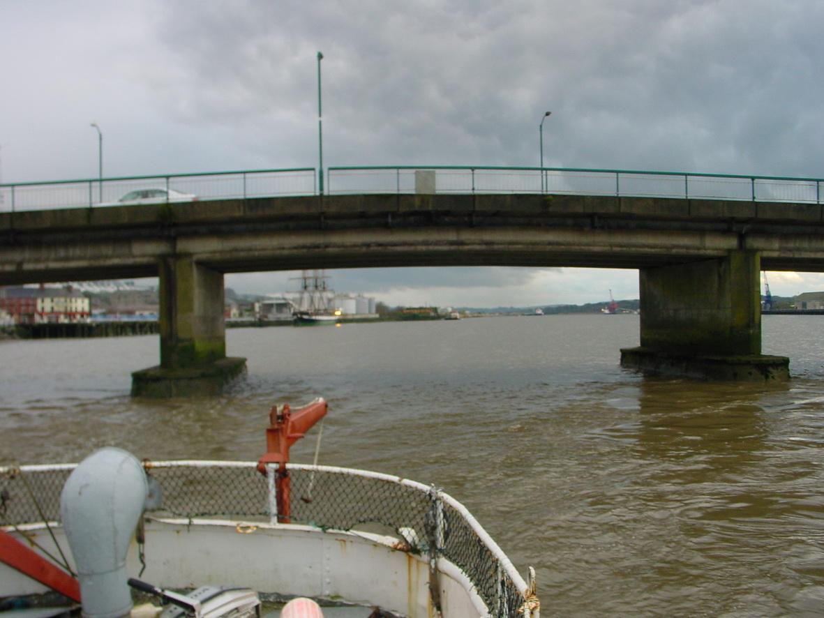 Through the bridge in New Ross