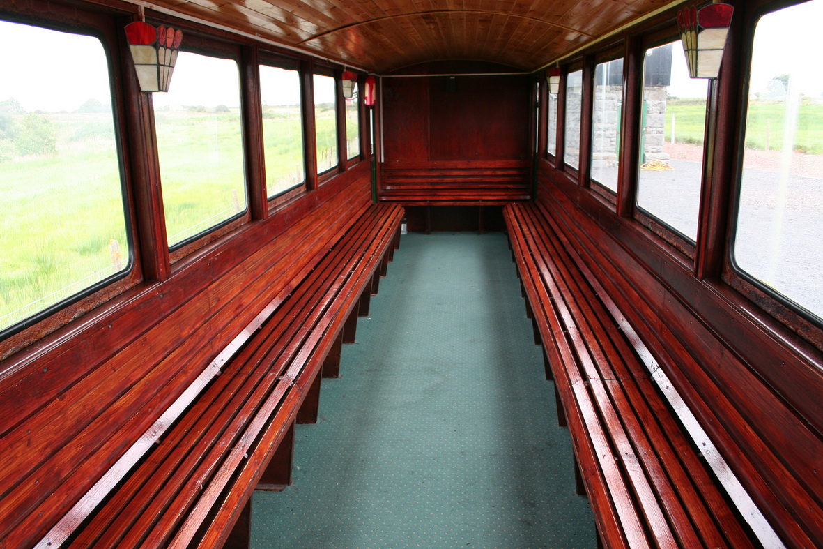 Inside the first carriage