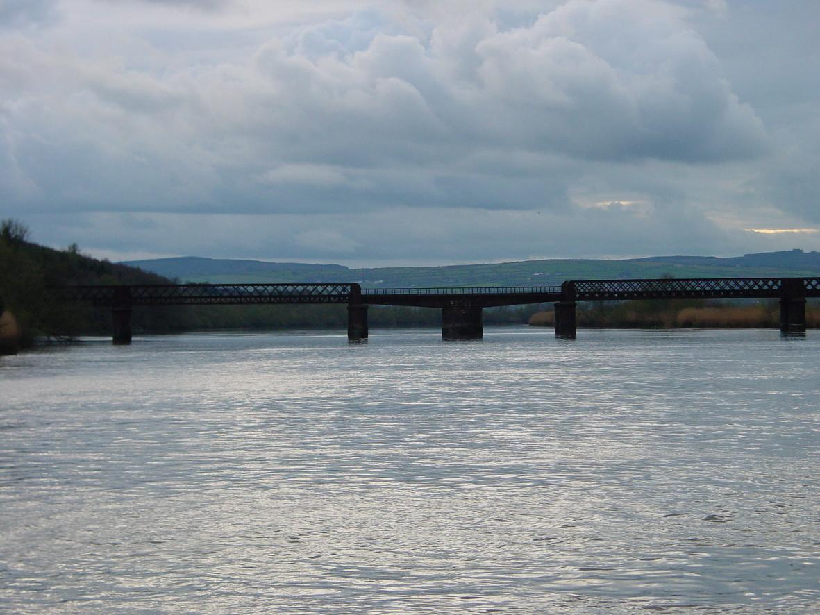 Old railway bridge above New Ross