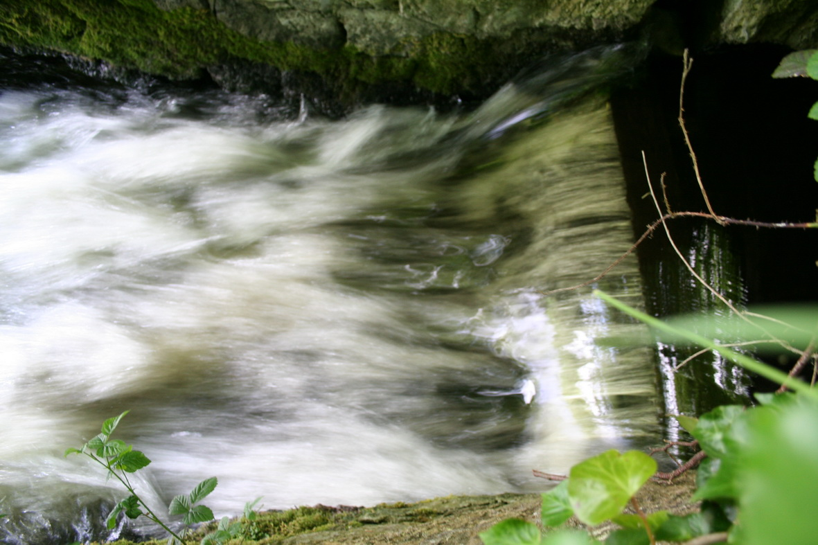 Water flowing out of the tunnel to rejoin the Shannon